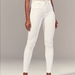 NEW Abercrombie White Jeans